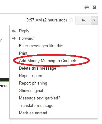 Creating New Contact in Gmail