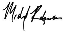 Michael Robinson's signature