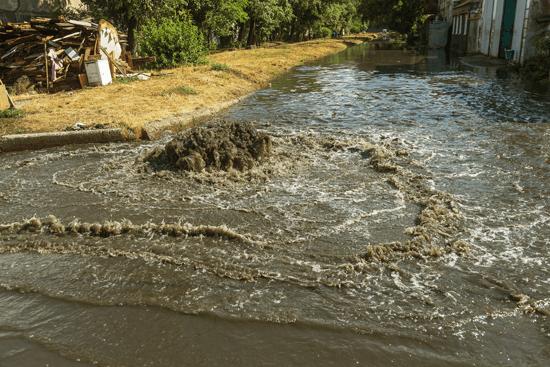 sewage river