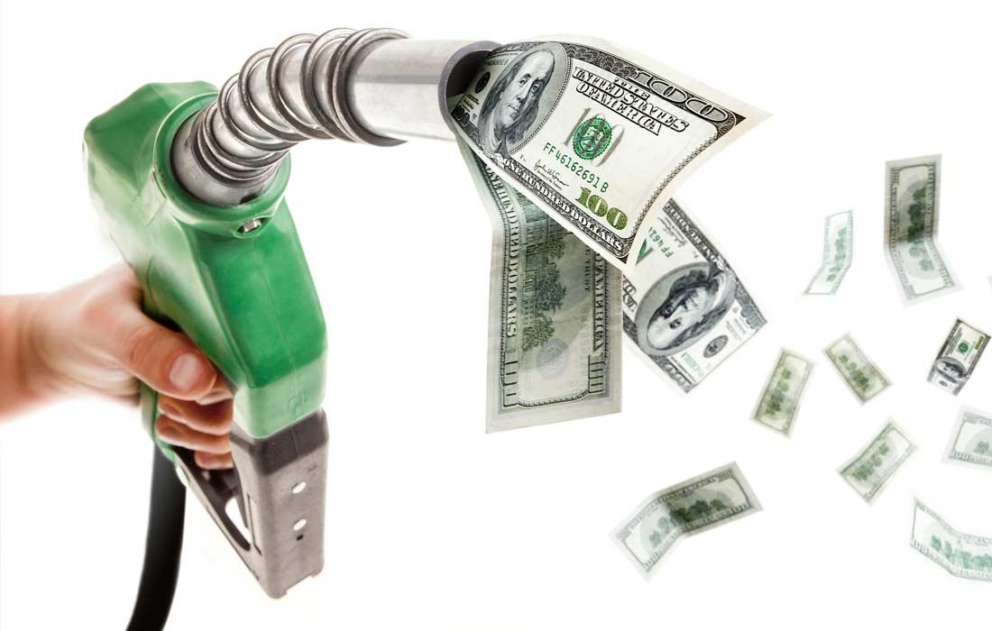gas pump money