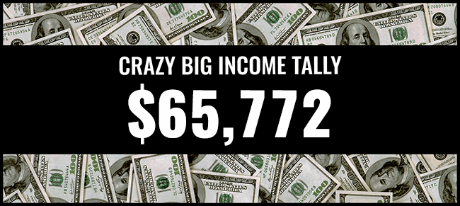 Crazy Big income 65,772 graphic