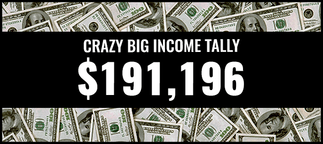 Crazy Big income 191,196 graphic