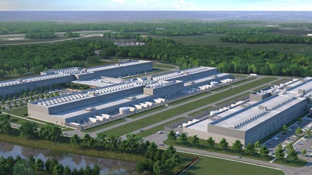 image of warehouses and data centers