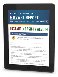 Cash in Alert email