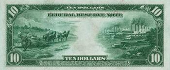 Back of 10 Dollar Bill